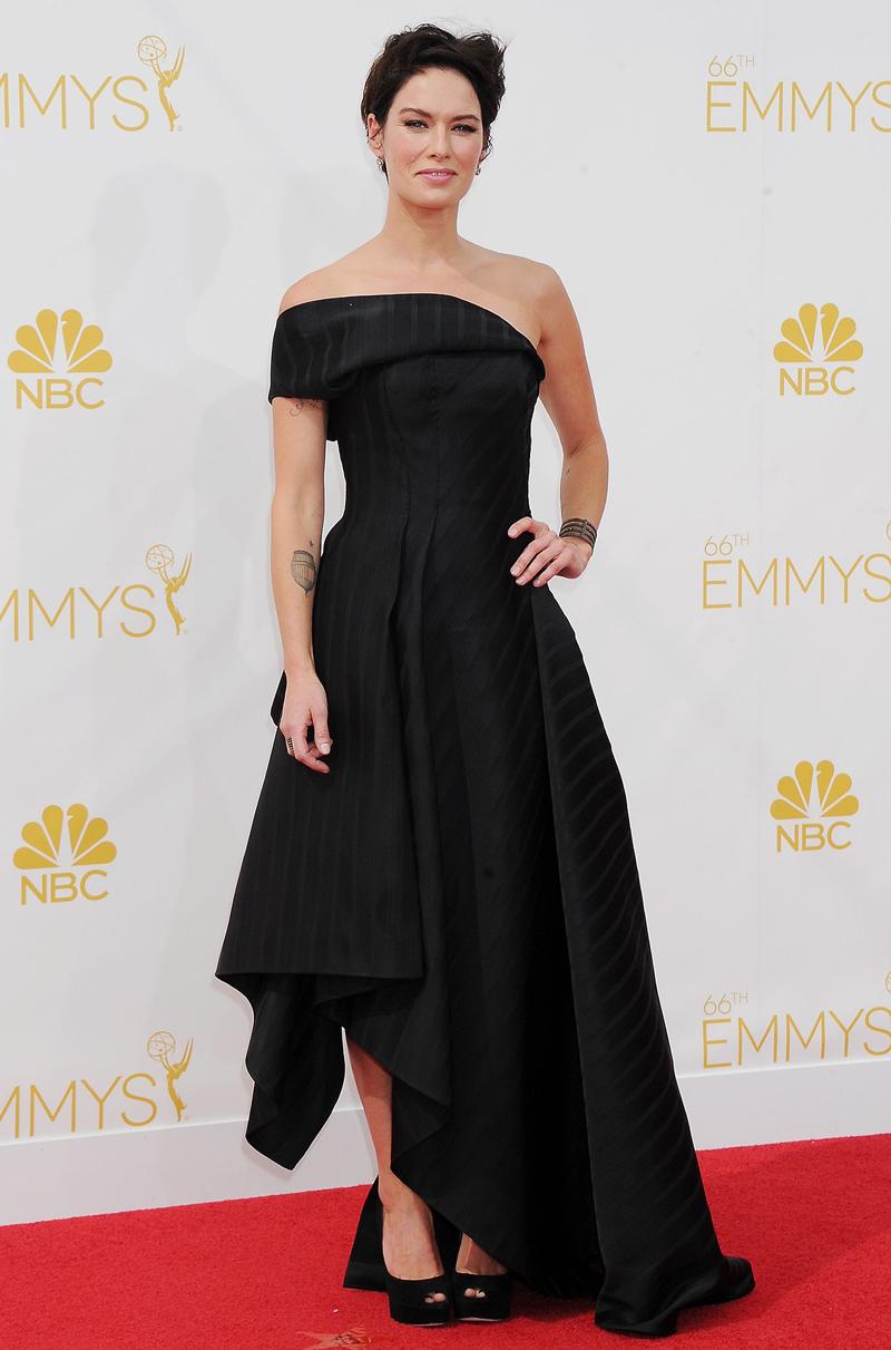 Лина Хиди Эмми 2014 черное платье