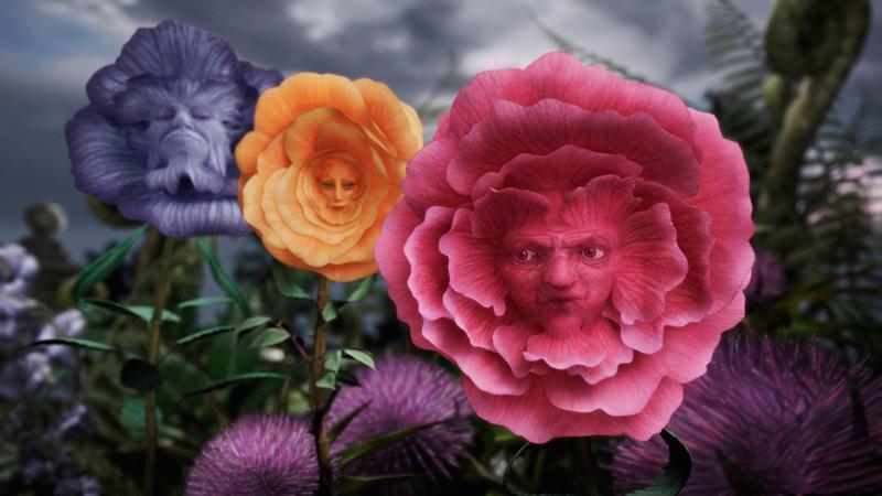 """Говорящие цветы из фильма """"Алиса в Стране чудес"""""""