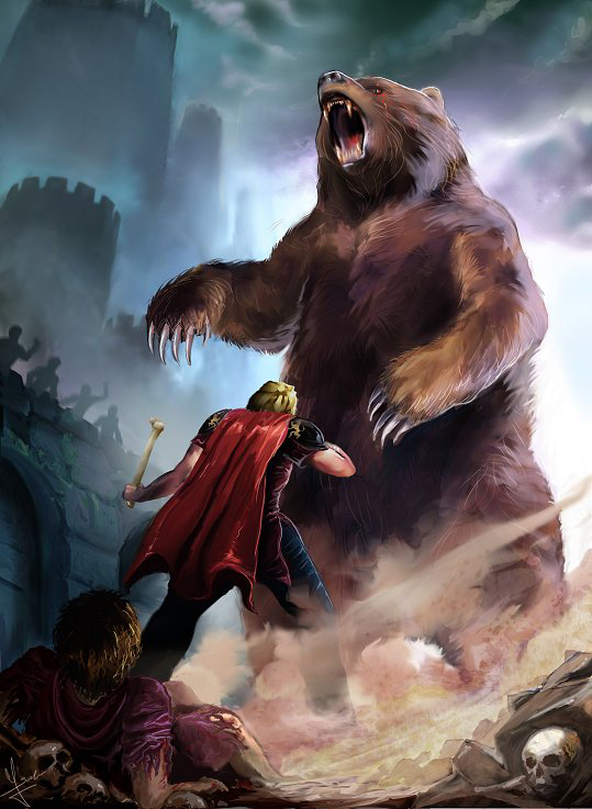 Brienne of Tarth and bear art