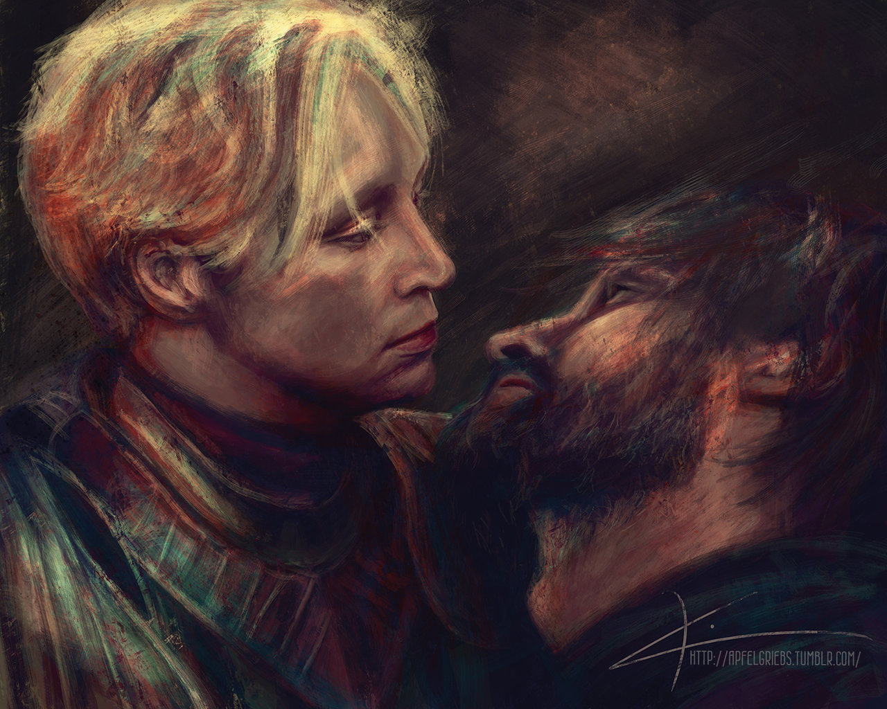 Brienne of Tarth and Jaime Lannister art