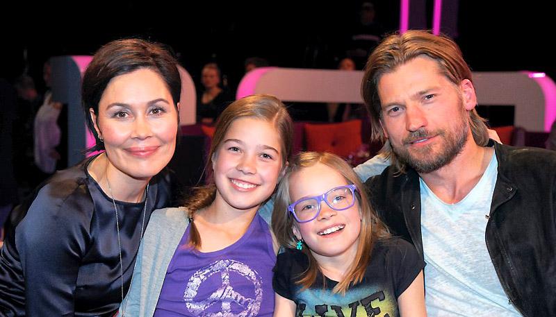 Николай Костер-Вальдау с женой Нукакой и дочерьми Софиной и Филиппой