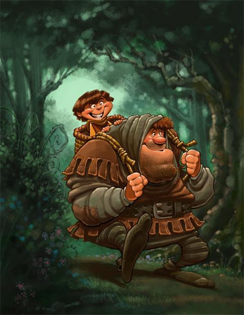 Ходор и Бран Игра Престолов иллюстрации