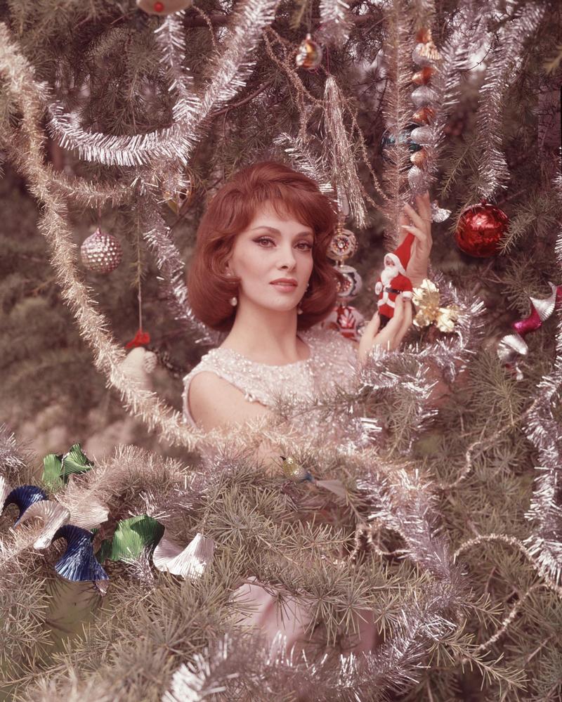 Джина Лоллобриджида с семьей Новый год елка Рождество