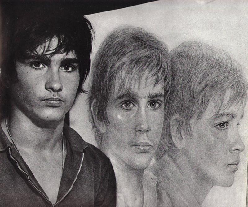 Портрет сына Джины Лоллобриджиды (актриса великолепно рисует!)
