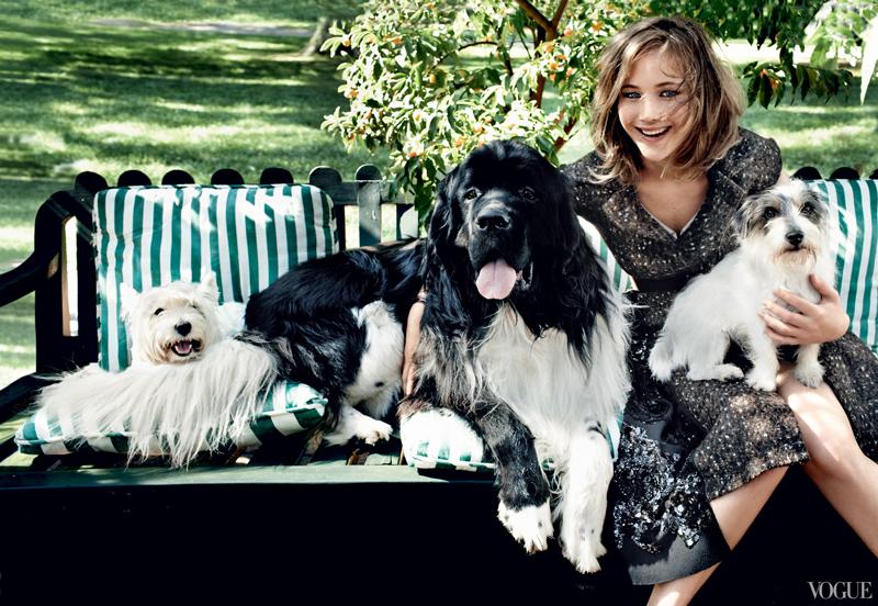 80 фото Дженнифер Лоуренс с собаками