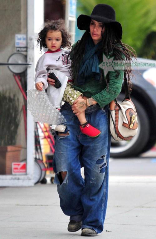 Лиза Боне с дочерью Лолой