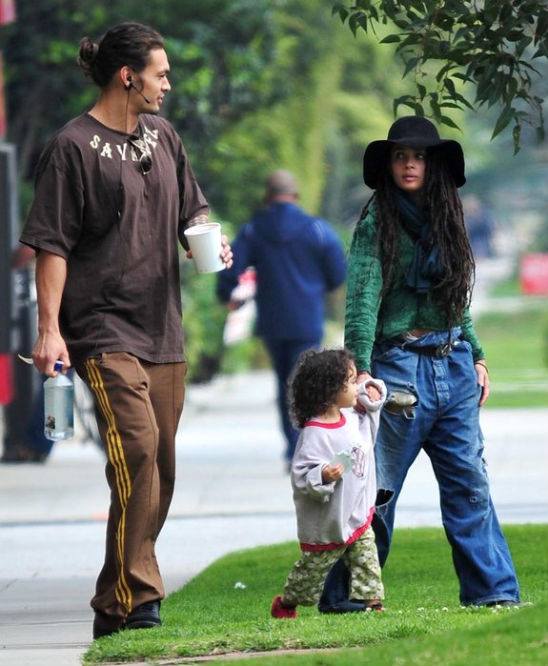 Джейсон Момоа и Лиза Боне с дочерью Лолой