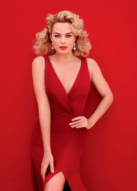Марго Робби фото из фотосессий за 2014 секси в красном платье