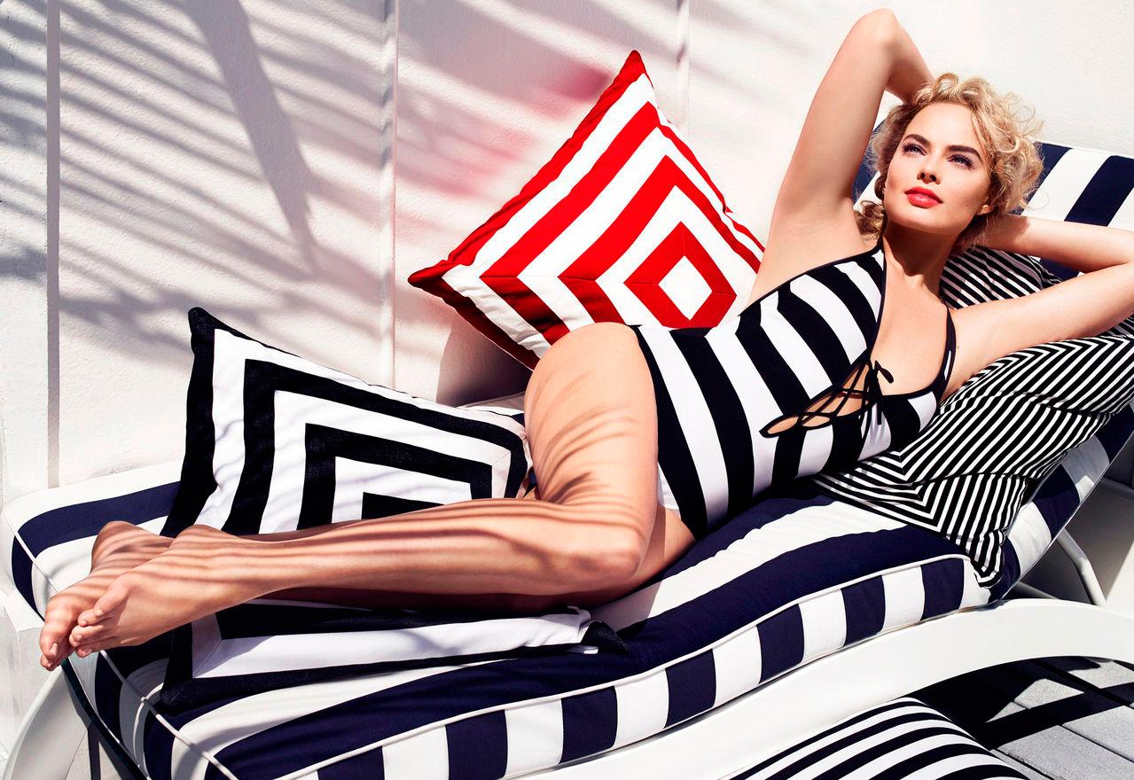 Марго Робби фото из фотосессий за 2014 в купальнике эро