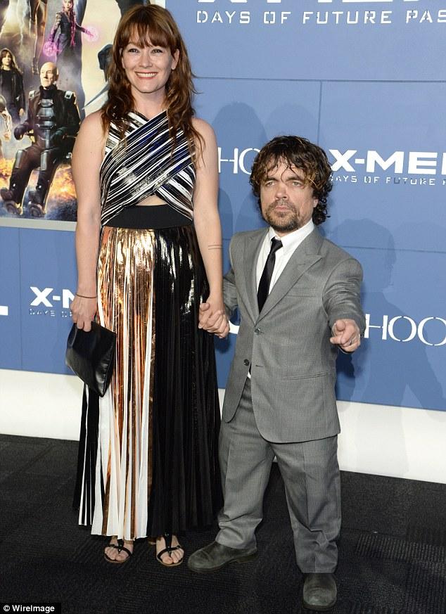 Питер Динклэйдж с женой Люди Икс премьера 2014