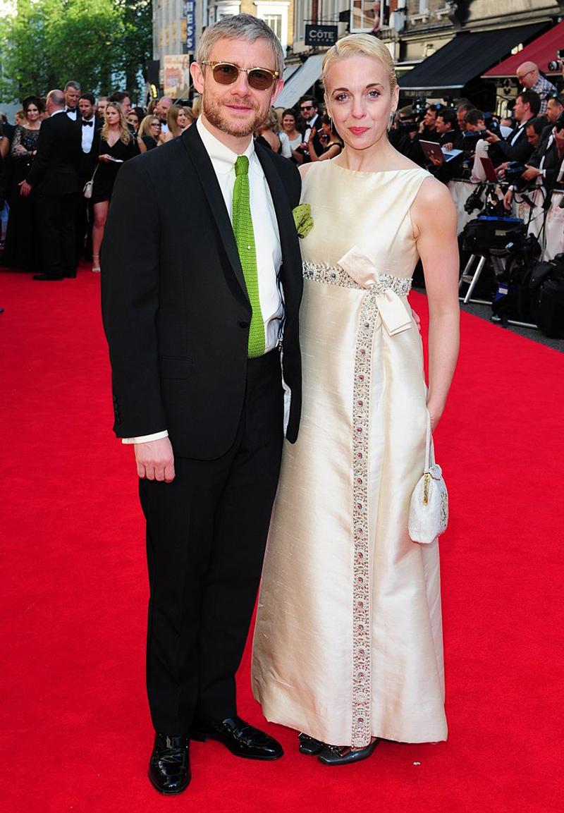 Морган Фриман со своей женой Амандой Аббингтон TV BAFTA 2014