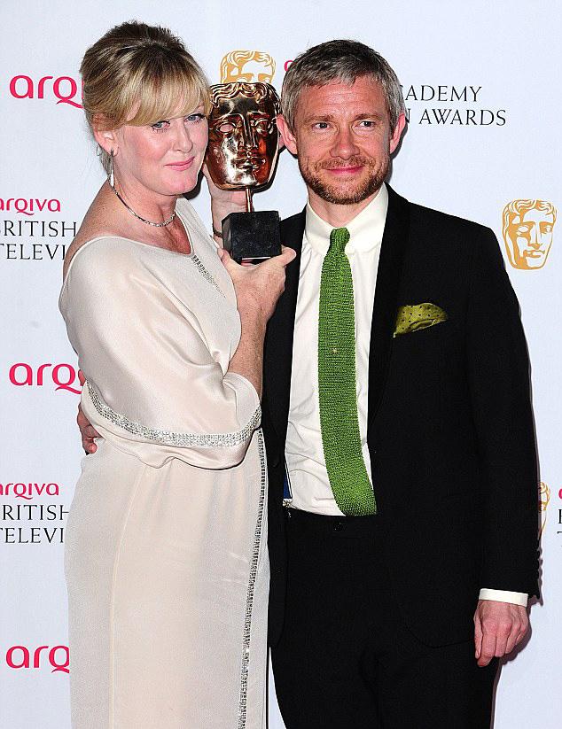 Сара Ланкашир и Мартин Фриман TV BAFTA 2014