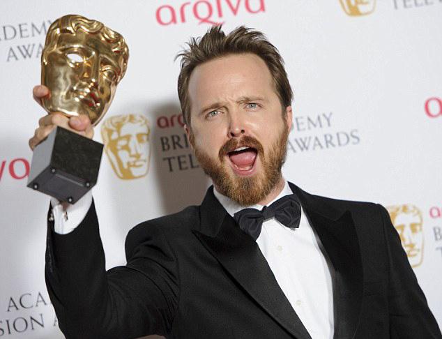Аарон Пол с бродой TV BAFTA 2014