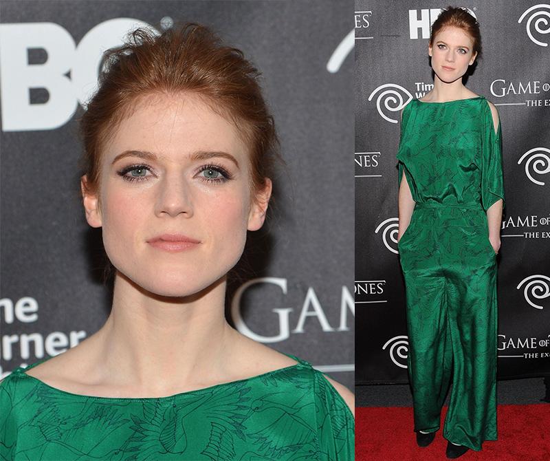 Роуз Лесли в зеленом наряде